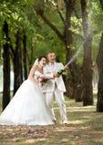 Onlangs echtpaar Stock Foto's