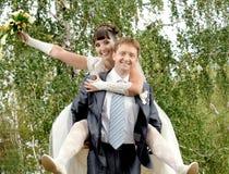 Onlangs echtpaar Royalty-vrije Stock Afbeeldingen