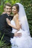 Onlangs echtpaar royalty-vrije stock fotografie