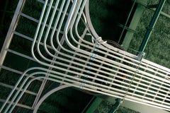 Onlangs Geïnstalleerde Elektrobuisverbinding Stock Foto's