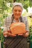Onlangs-gebakken brood Stock Afbeelding