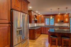 Onlangs gebeëindigde keuken Stock Foto's