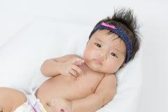 Onlangs Geboren Aziatisch Babymeisje Royalty-vrije Stock Foto's