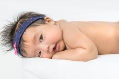 Onlangs Geboren Aziatisch Babymeisje Stock Foto's