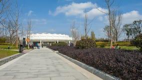 Onlangs gebouwd Zhongxin-Park stock afbeelding