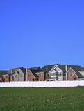 Onlangs gebouwde huizen stock foto's