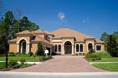 Onlangs geconstrueerd upscale huis Royalty-vrije Stock Afbeelding