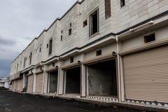 Onlangs geconstrueerde flats in een kleine stad van Saudi-Arabië royalty-vrije stock fotografie