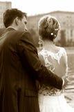 Onlangs-gehuwd paar stock foto's
