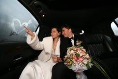 Onlangs-gehuwd paar royalty-vrije stock afbeelding