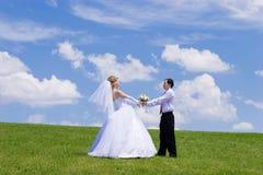 Onlangs-gehuwd paar Stock Fotografie