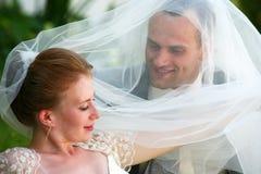 Onlangs gehuwd paar Royalty-vrije Stock Afbeeldingen