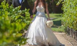 Onlangs gehuwd wed paar Royalty-vrije Stock Foto