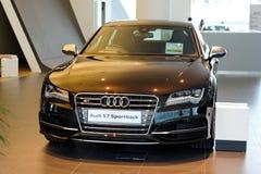 Onlangs gelanceerd Audi S7 op vertoning Royalty-vrije Stock Foto's
