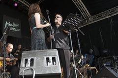 Onley Big Band-Sänger Lizenzfreies Stockfoto
