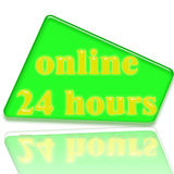 Online 24 Hours. Symbols for your web site support Royalty Free Stock Image