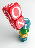 Online 3d colorful cube tower Stock Photos
