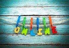 Online fotografia stock