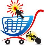 Online aankoopembleem Stock Foto
