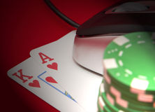 Online Ace And King Stock Images