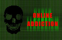 Online Addiction Royalty Free Stock Images