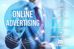 Online Advertising Stock Photo