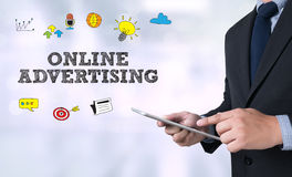 ONLINE ADVERTISING Royalty Free Stock Images