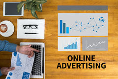 ONLINE ADVERTISING Royalty Free Stock Photography