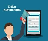Online advertising design Stock Photography
