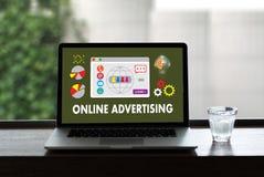 ONLINE ADVERTISING  Website Marketing , Update Trends  Advertisi Stock Photography
