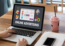 ONLINE ADVERTISING  Website Marketing , Update Trends  Advertisi Stock Images