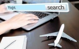 Online agencja podróży lota rewizi pudełko Zdjęcia Stock