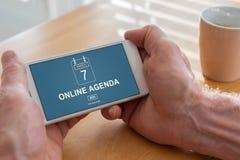 Online agendy pojęcie na smartphone Fotografia Stock