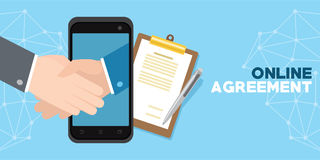 Free Online Agreement With Digital Sign Royalty Free Stock Photography - 96887517