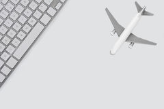 Online Airfare Booking Concept Stock Image
