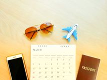 Online Airplane Flight Booking by smartphone Royalty Free Stock Image