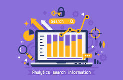 Online analytics search information Royalty Free Stock Photo
