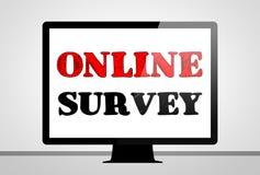 Online ankieta Fotografia Royalty Free