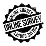 Online ankieta znaczek zdjęcie royalty free