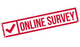 Online ankieta znaczek obrazy stock