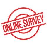 Online ankieta znaczek obraz royalty free