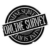 Online ankieta znaczek zdjęcia stock