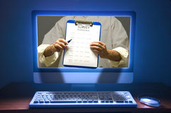 Online ankiety kwestionariuszu wybory test Obraz Stock