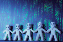 Online anonymity on Internet Stock Photo