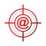 online aroba target sign concept illustration Stock Photos