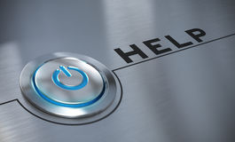 Online Assistance, Help Button Royalty Free Stock Photography