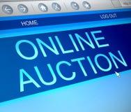 Online-auktionbegrepp Royaltyfria Bilder