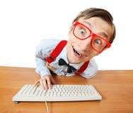 Online babbelend Stock Afbeelding