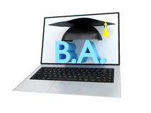 Online Bachelor Degree Concept Royalty Free Stock Photos