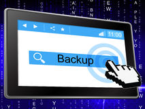 Online Backup Represents World Wide Web And Archives Royalty Free Stock Image